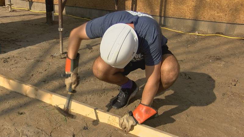 Members of Trident United Way's AmeriCorps team grabbed a hammer to pitch in on a Dorchester...