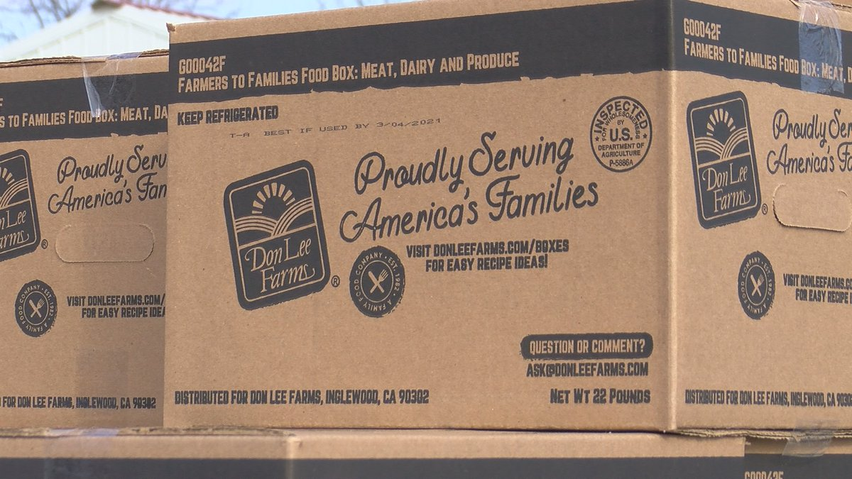 Farmers to Families free food distribution in Burkburnett Saturday