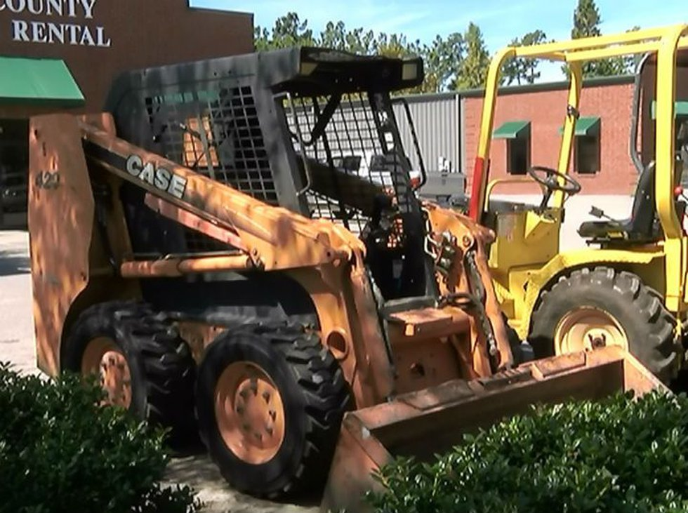 This tractor is similar to the one stolen on Thursday, police say.