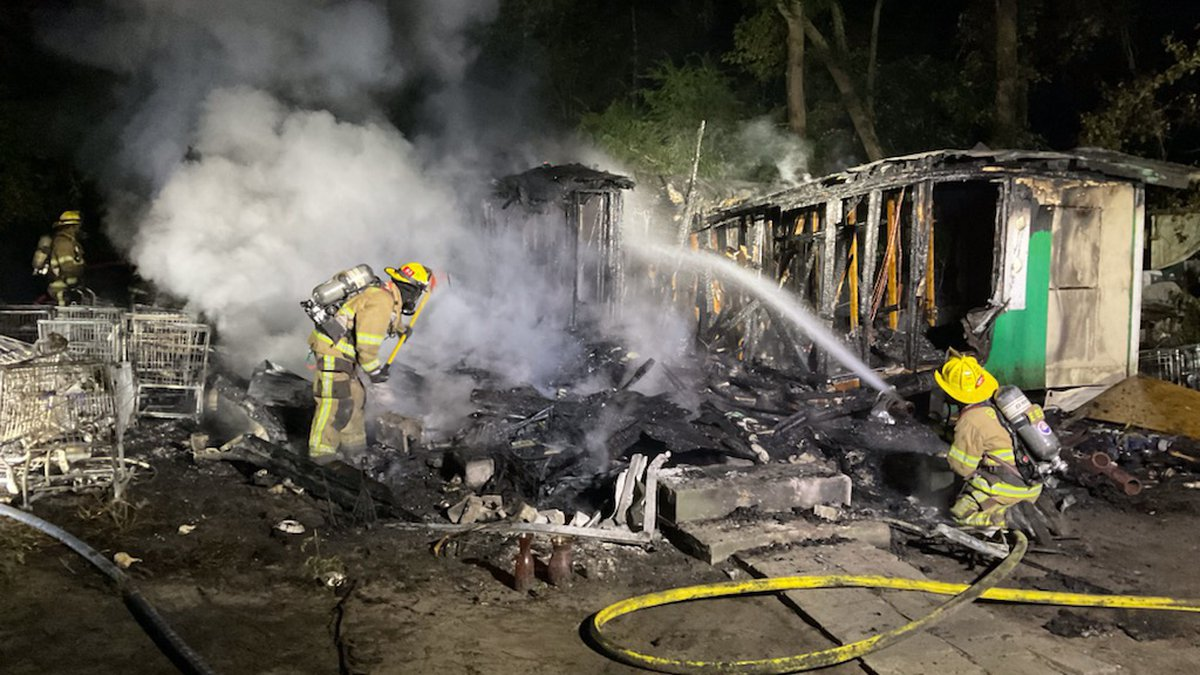 Officials say crews responded just before 4:30 a.m. on Thursday and found a home on Coinbow...