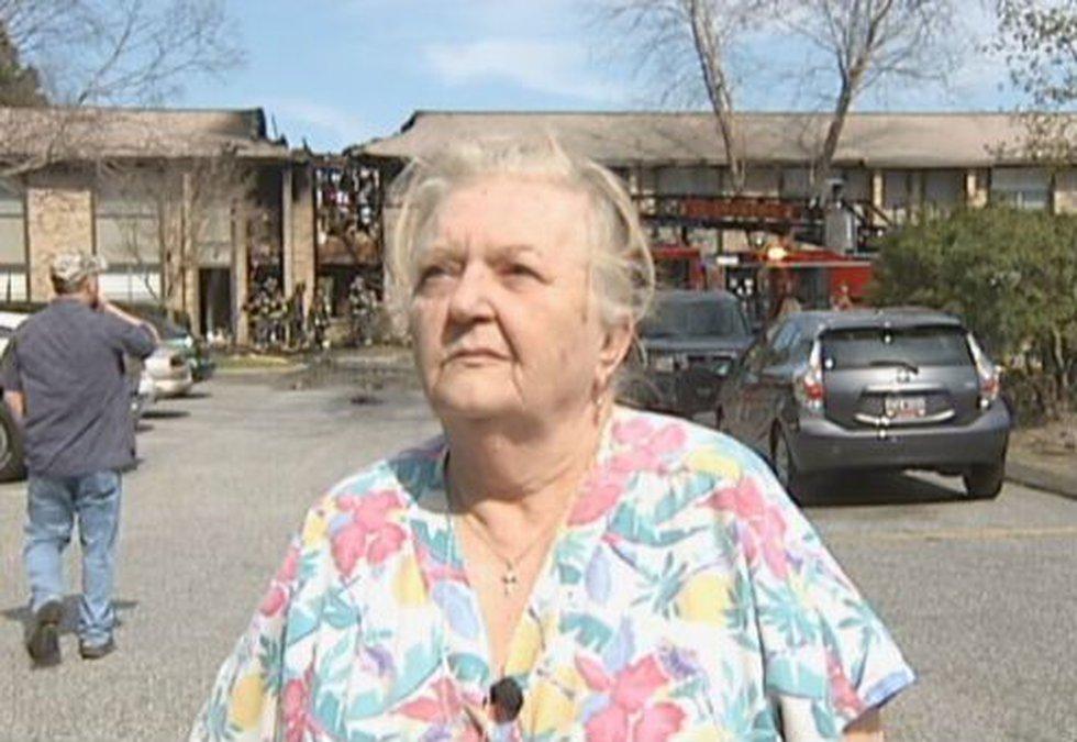 Harriette McCutchen was displaced by the fire.