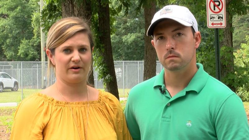 Skylar and Derek Martin, of Hanover, said their honeymoon was cut short after Skylar was...