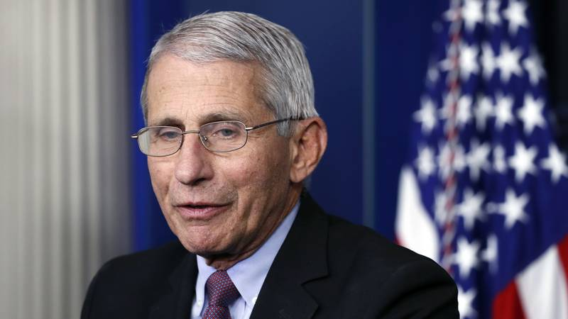 In this April 22, 2020 file photo, Dr. Anthony Fauci, director of the National Institute of...