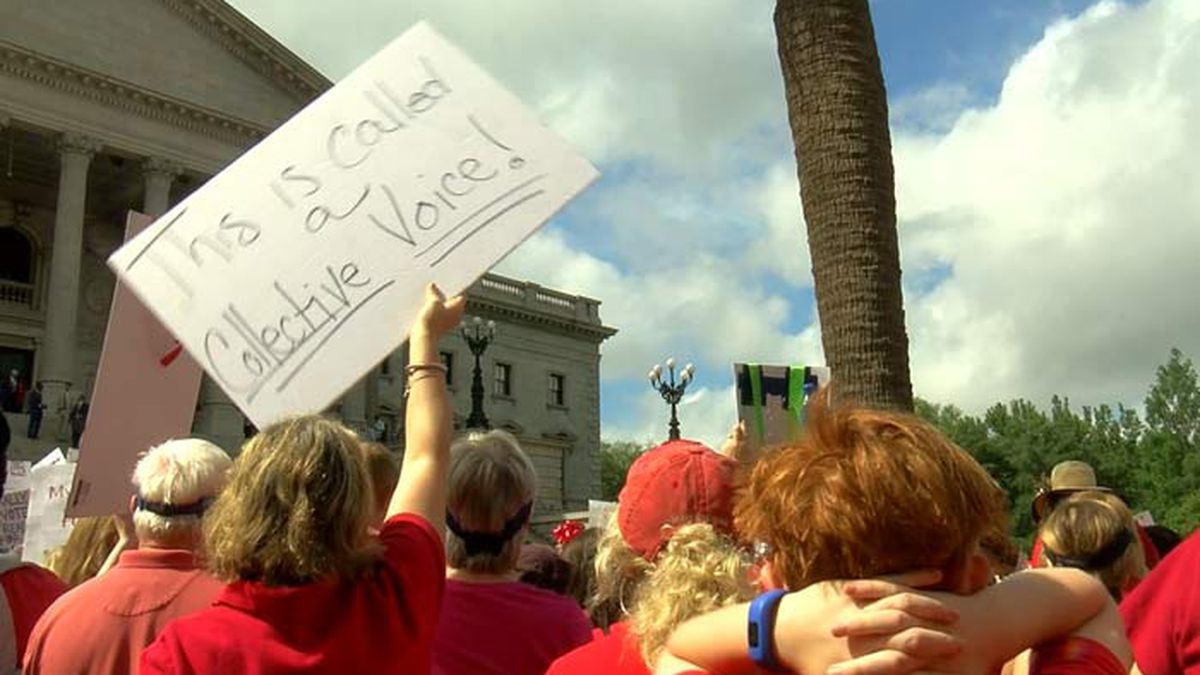 The teachers group SC for Ed, which participated in this massive protest at the State House in...