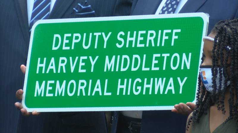 A new tribute to a Berkeley County Sheriff's Deputy killed the line of duty now sits along a...