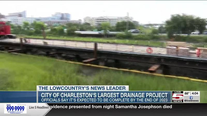 VIDEO: Charleston's largest drainage project underway