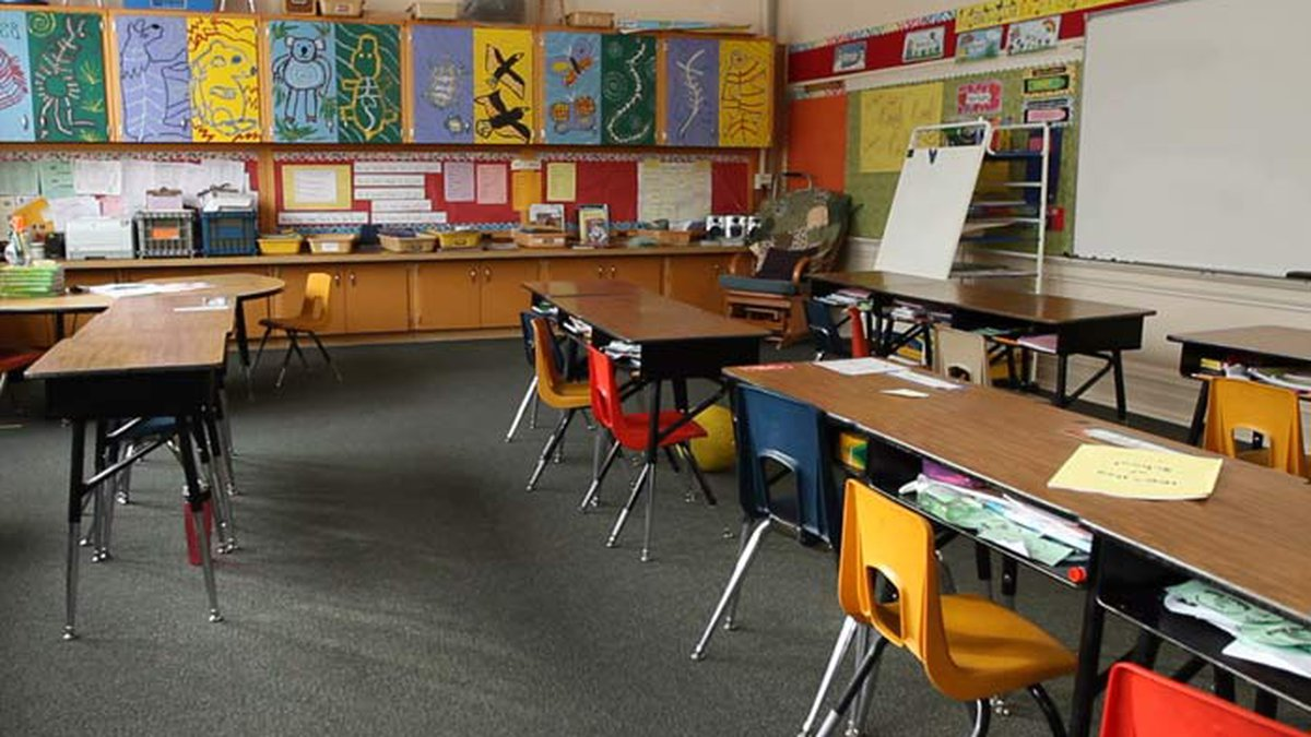 After a summer of looking forward to a more traditional school year, a kindergarten class was...