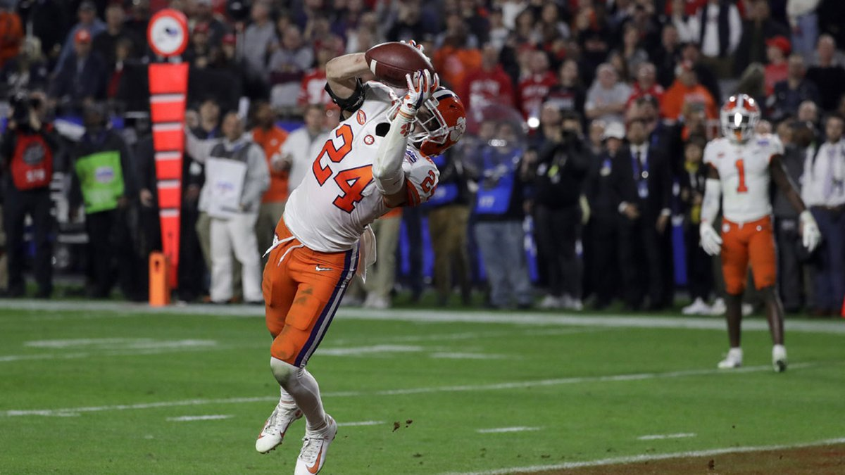 Clemson safety Nolan Turner (24) intercepts an Ohio State pass during the final minute of the...