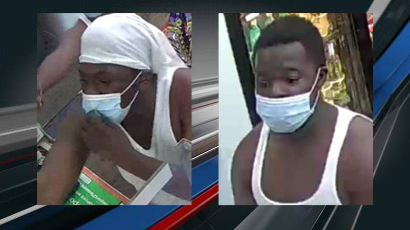 Police say the two shown in the photos robbed the Reid Street Market on Monday.