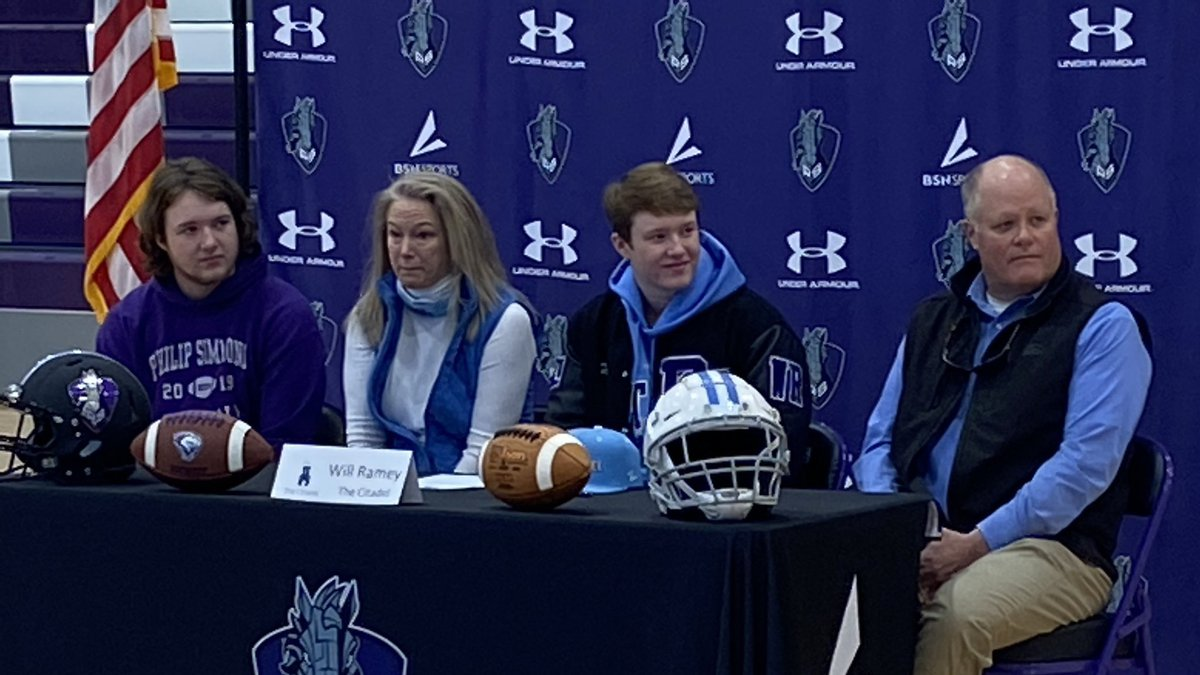 Philip Simmons WR Will Ramey signs with The Citadel on Wednesday during National Signing Day