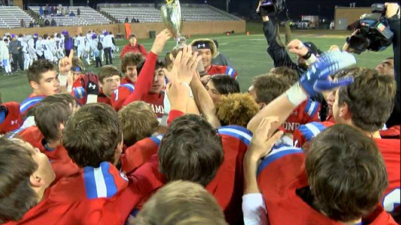 The Hammond Skyhawks celebrate a SCISA 3A state title Saturday. The perennial power defeated...