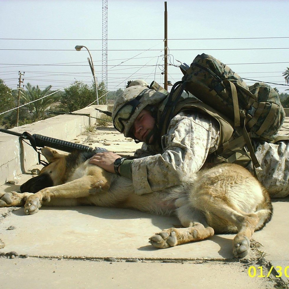 Before creating his non-profit, JR spent time in Iraq as a bomb dog handler.